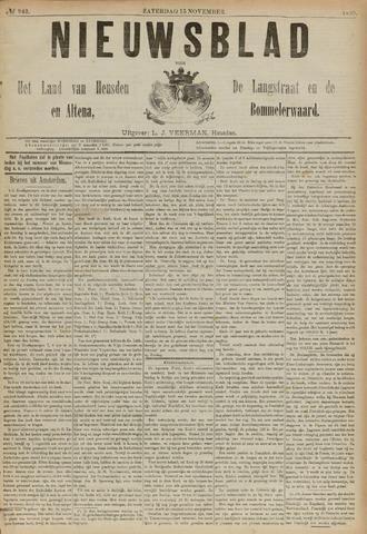 Nieuwsblad het land van Heusden en Altena de Langstraat en de Bommelerwaard 1890-11-15