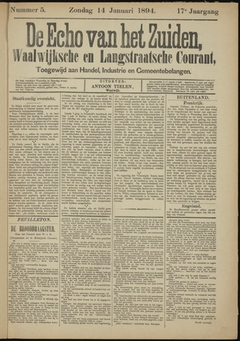 Echo van het Zuiden 1894-01-14