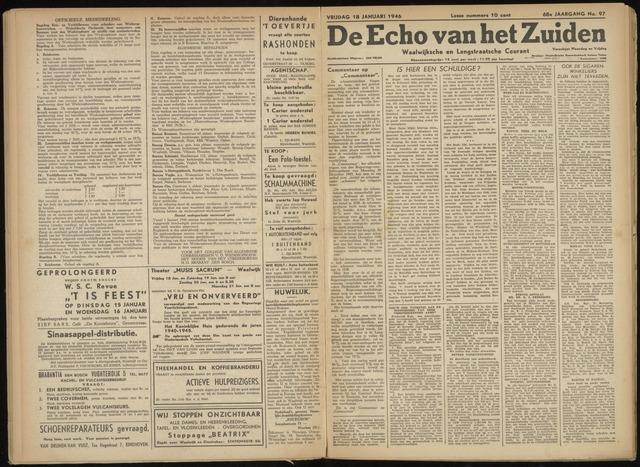 Echo van het Zuiden 1946-01-18
