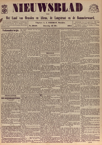 Nieuwsblad het land van Heusden en Altena de Langstraat en de Bommelerwaard 1911-05-13