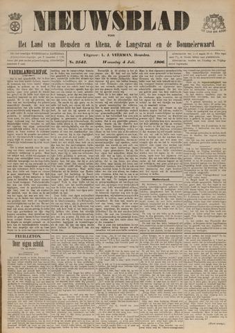 Nieuwsblad het land van Heusden en Altena de Langstraat en de Bommelerwaard 1906-07-04