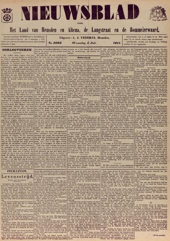 Nieuwsblad het land van Heusden en Altena de Langstraat en de Bommelerwaard 1911-07-05