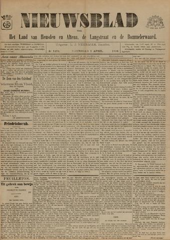 Nieuwsblad het land van Heusden en Altena de Langstraat en de Bommelerwaard 1896-04-01