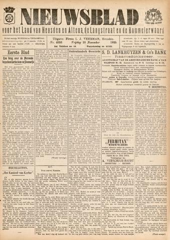 Nieuwsblad het land van Heusden en Altena de Langstraat en de Bommelerwaard 1925-11-13