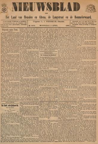 Nieuwsblad het land van Heusden en Altena de Langstraat en de Bommelerwaard 1905-04-05