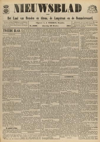 Nieuwsblad het land van Heusden en Altena de Langstraat en de Bommelerwaard 1911-10-28
