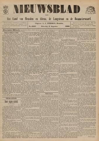 Nieuwsblad het land van Heusden en Altena de Langstraat en de Bommelerwaard 1906-08-04