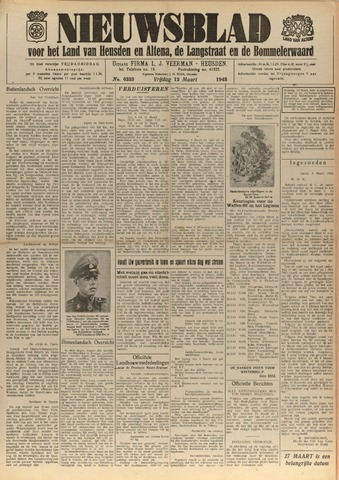 Nieuwsblad het land van Heusden en Altena de Langstraat en de Bommelerwaard 1943-03-12