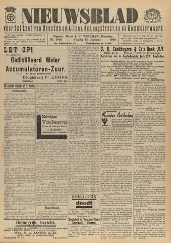 Nieuwsblad het land van Heusden en Altena de Langstraat en de Bommelerwaard 1930-08-15