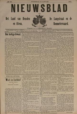 Nieuwsblad het land van Heusden en Altena de Langstraat en de Bommelerwaard 1888-01-25