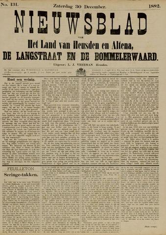 Nieuwsblad het land van Heusden en Altena de Langstraat en de Bommelerwaard 1882-12-30