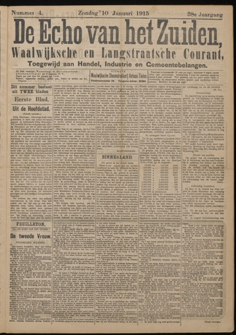 Echo van het Zuiden 1915-01-10