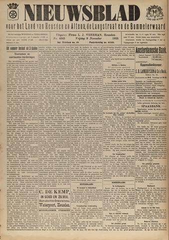 Nieuwsblad het land van Heusden en Altena de Langstraat en de Bommelerwaard 1923-11-09