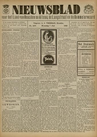 Nieuwsblad het land van Heusden en Altena de Langstraat en de Bommelerwaard 1922-06-07