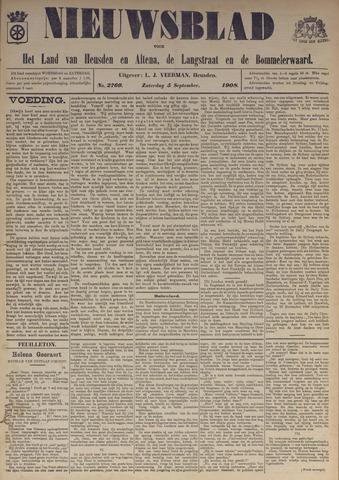 Nieuwsblad het land van Heusden en Altena de Langstraat en de Bommelerwaard 1908-09-05