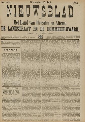 Nieuwsblad het land van Heusden en Altena de Langstraat en de Bommelerwaard 1885-07-15