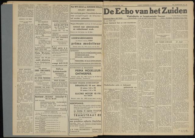 Echo van het Zuiden 1947-08-26
