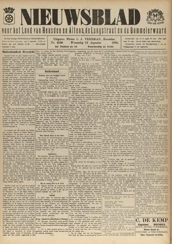 Nieuwsblad het land van Heusden en Altena de Langstraat en de Bommelerwaard 1925-08-12