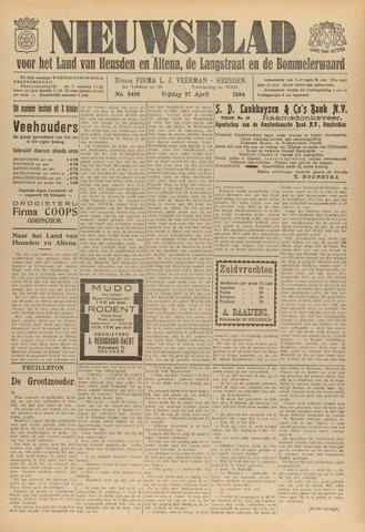 Nieuwsblad het land van Heusden en Altena de Langstraat en de Bommelerwaard 1934-04-27