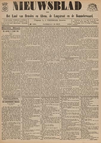Nieuwsblad het land van Heusden en Altena de Langstraat en de Bommelerwaard 1899-11-18