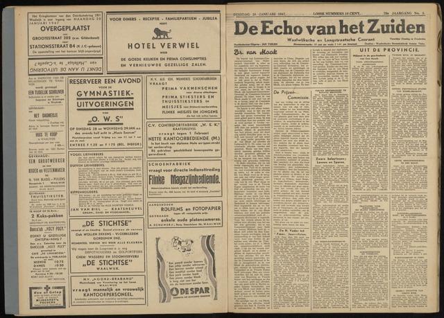 Echo van het Zuiden 1947-01-28
