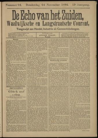 Echo van het Zuiden 1892-11-24