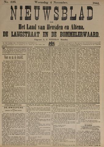 Nieuwsblad het land van Heusden en Altena de Langstraat en de Bommelerwaard 1885-11-04
