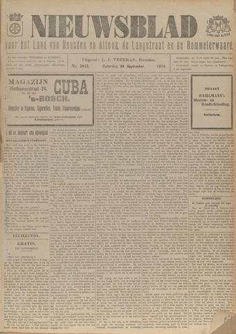 Nieuwsblad het land van Heusden en Altena de Langstraat en de Bommelerwaard 1918-09-28