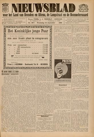 Nieuwsblad het land van Heusden en Altena de Langstraat en de Bommelerwaard 1936-09-16