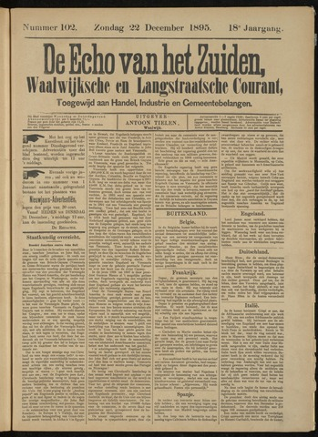 Echo van het Zuiden 1895-12-22