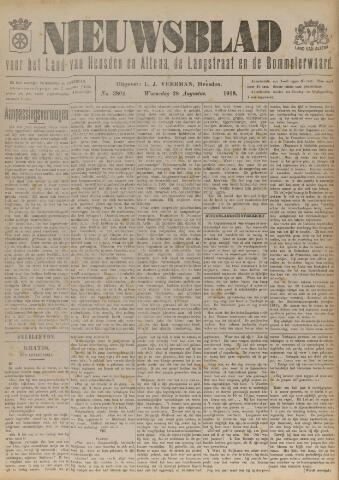 Nieuwsblad het land van Heusden en Altena de Langstraat en de Bommelerwaard 1918-08-28