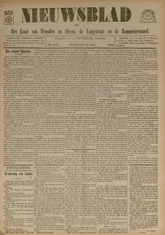 Nieuwsblad het land van Heusden en Altena de Langstraat en de Bommelerwaard 1899-01-21