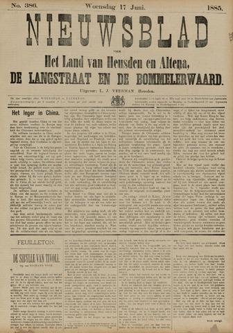 Nieuwsblad het land van Heusden en Altena de Langstraat en de Bommelerwaard 1885-06-17