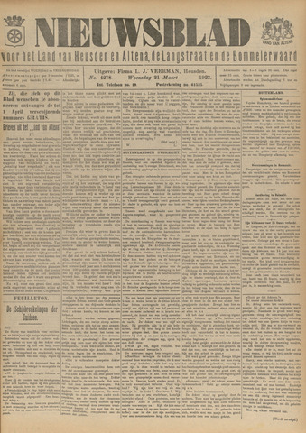 Nieuwsblad het land van Heusden en Altena de Langstraat en de Bommelerwaard 1923-03-21