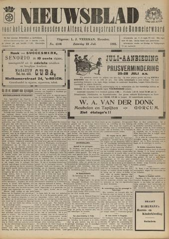 Nieuwsblad het land van Heusden en Altena de Langstraat en de Bommelerwaard 1921-07-23