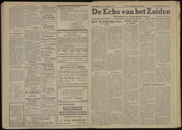 Echo van het Zuiden 1947-03-13