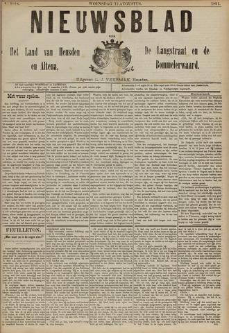 Nieuwsblad het land van Heusden en Altena de Langstraat en de Bommelerwaard 1891-08-12