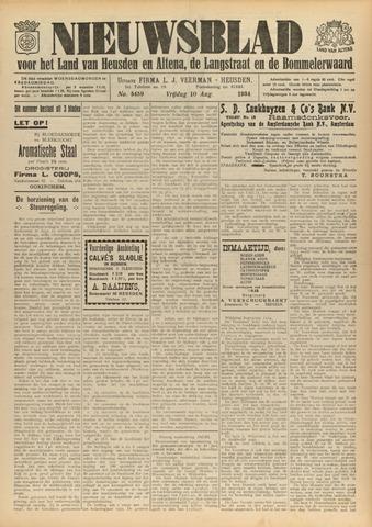 Nieuwsblad het land van Heusden en Altena de Langstraat en de Bommelerwaard 1934-08-10