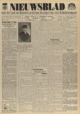 Nieuwsblad het land van Heusden en Altena de Langstraat en de Bommelerwaard 1929-04-17