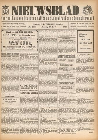 Nieuwsblad het land van Heusden en Altena de Langstraat en de Bommelerwaard 1922-04-29