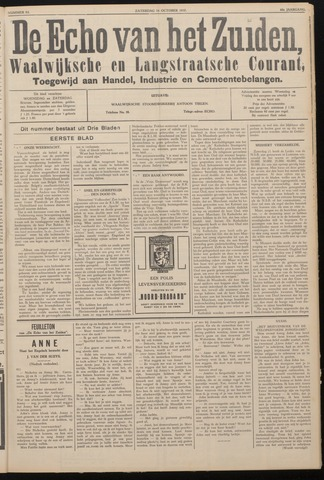 Echo van het Zuiden 1937-10-16