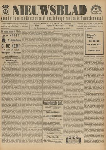 Nieuwsblad het land van Heusden en Altena de Langstraat en de Bommelerwaard 1922-11-24