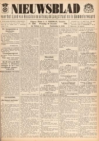 Nieuwsblad het land van Heusden en Altena de Langstraat en de Bommelerwaard 1925-12-16