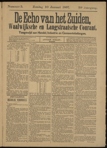 Echo van het Zuiden 1897-01-10