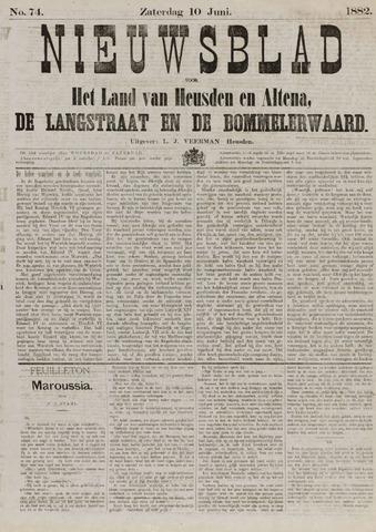 Nieuwsblad het land van Heusden en Altena de Langstraat en de Bommelerwaard 1882-06-10