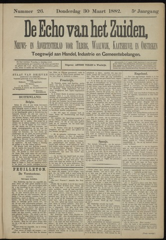 Echo van het Zuiden 1882-03-30