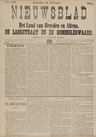 Nieuwsblad het land van Heusden en Altena de Langstraat en de Bommelerwaard 1885-02-21