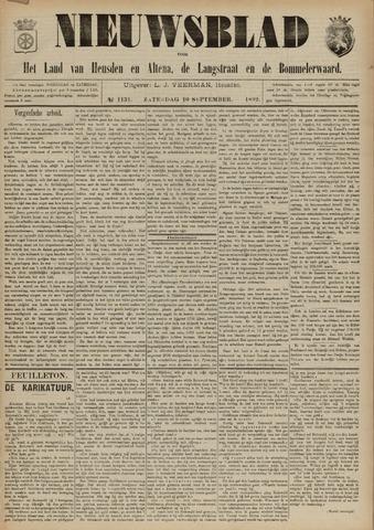 Nieuwsblad het land van Heusden en Altena de Langstraat en de Bommelerwaard 1892-09-10