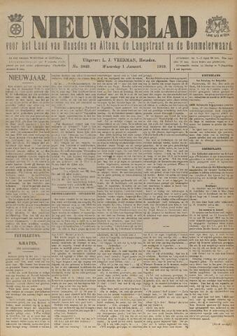 Nieuwsblad het land van Heusden en Altena de Langstraat en de Bommelerwaard 1919-01-01