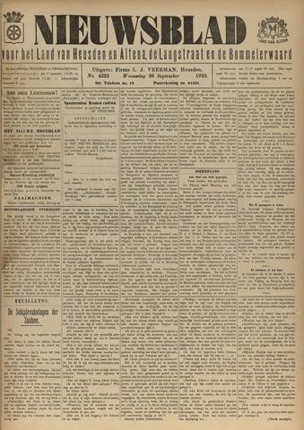 Nieuwsblad het land van Heusden en Altena de Langstraat en de Bommelerwaard 1923-09-26